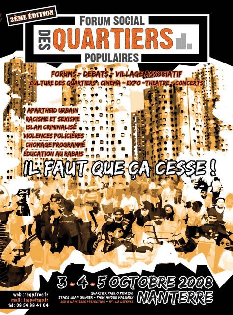 Forum des Quartiers Populaires 2008